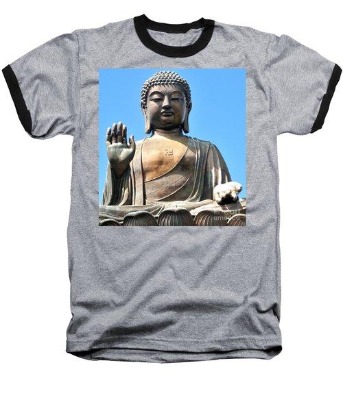Tian Tan Buddha Baseball T-Shirt