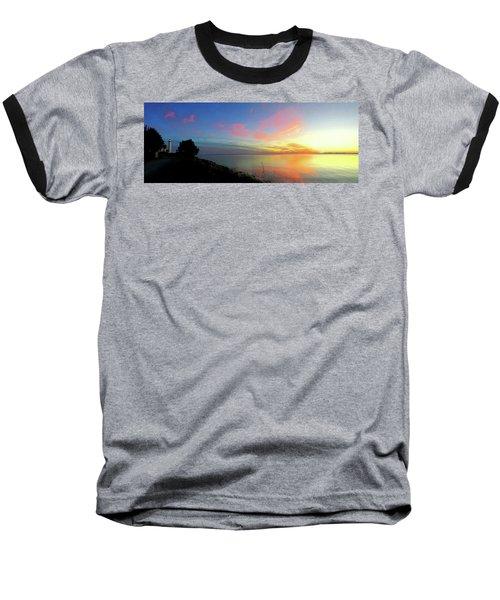 Sunset At Tibbetts Point Light, 2015 Baseball T-Shirt