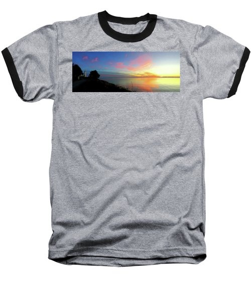 Sunset At Tibbetts Point Light, 2015 Baseball T-Shirt