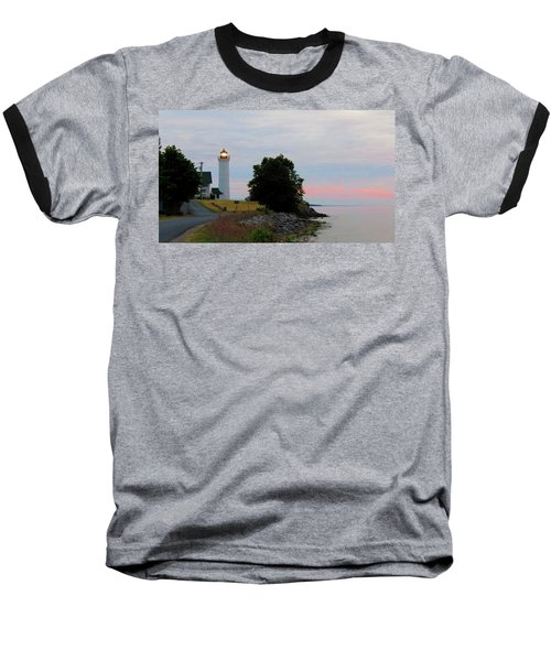 Tibbetts Point Light Sunset Baseball T-Shirt