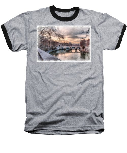 Baseball T-Shirt featuring the photograph Tiber - Aquarelle by Sergey Simanovsky