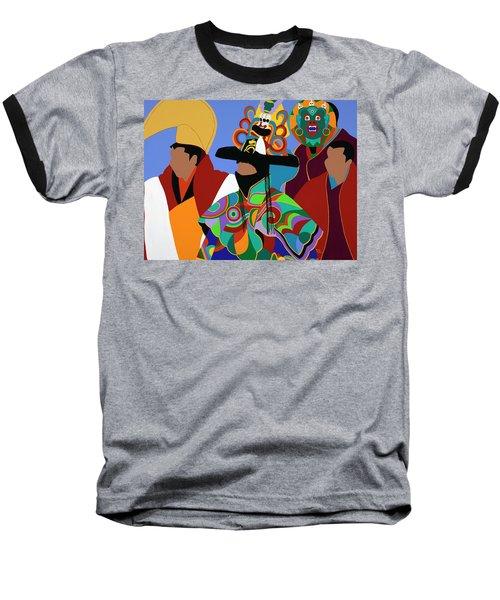 Tibetan Monks Cham Dancer Baseball T-Shirt