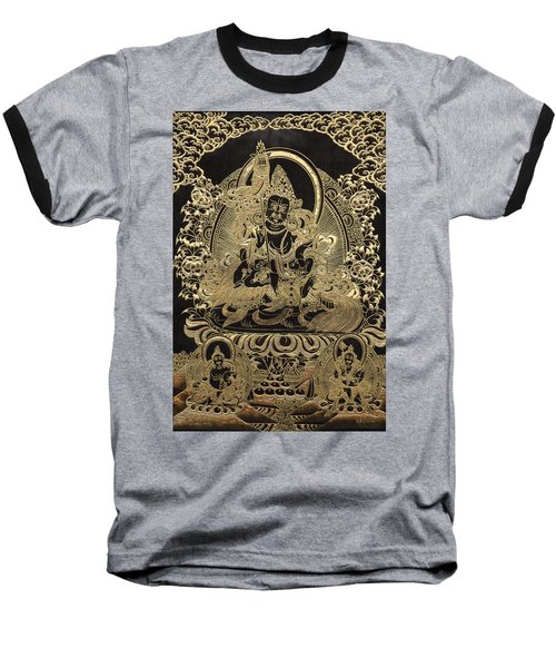 Tibetan Thangka - Vaishravana Baseball T-Shirt