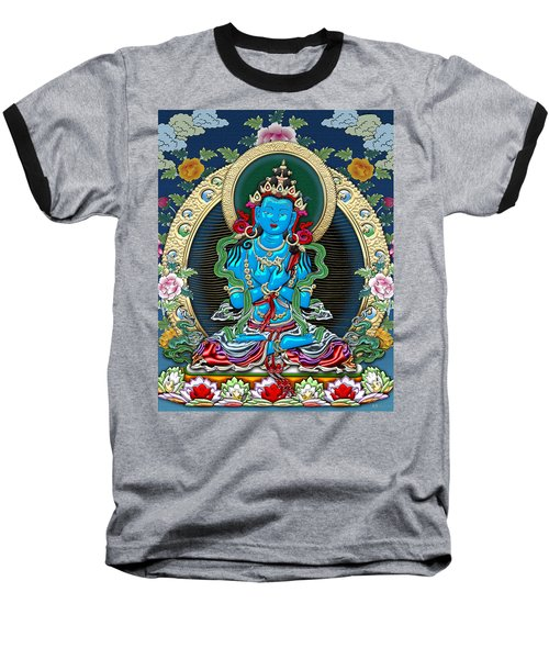 Tibetan Thangka -  Vajradhara Baseball T-Shirt by Serge Averbukh
