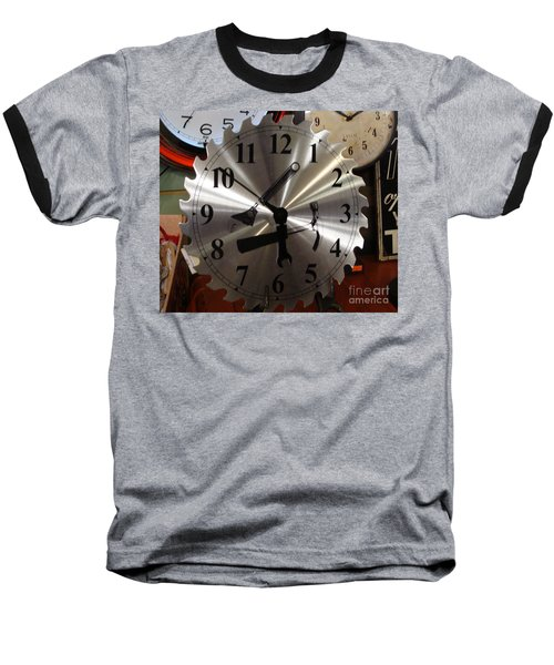 Baseball T-Shirt featuring the painting Tick Tock Tick Tock by Rod Jellison