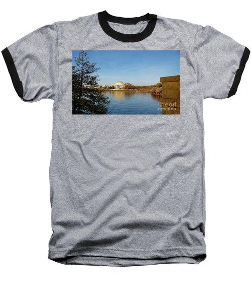 Tidal Basin And Jefferson Memorial Baseball T-Shirt by Megan Cohen