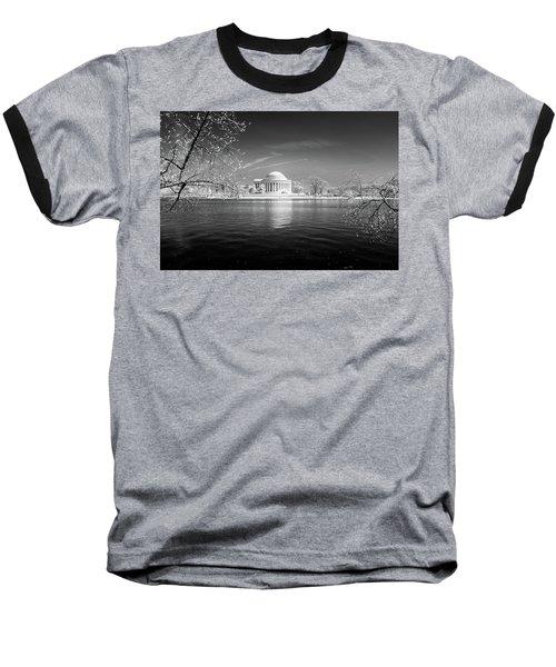 Tidal Basin Jefferson Memorial Baseball T-Shirt by Paul Seymour