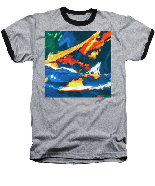 Baseball T-Shirt featuring the painting Tidal Forces by Dominic Piperata