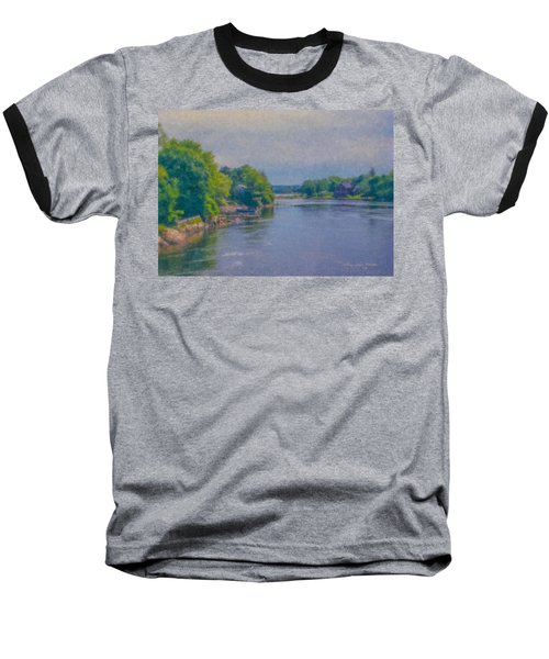 Tidal Inlet In Southern Maine Baseball T-Shirt