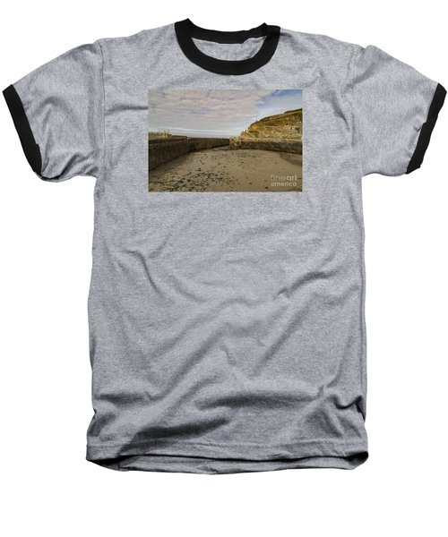 Tide Out Portreath Baseball T-Shirt