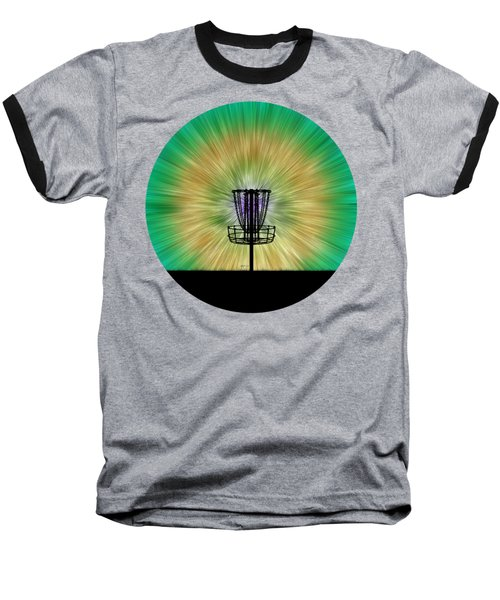 Tie Dye Disc Golf Basket Baseball T-Shirt
