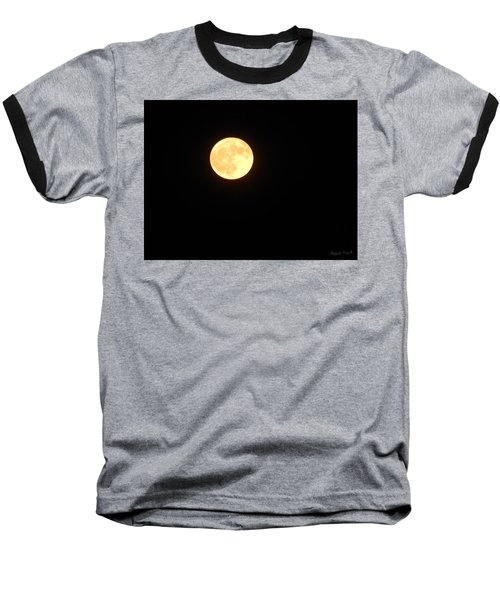 Tie Dyed Orange Moon Baseball T-Shirt