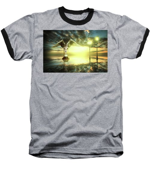 Baseball T-Shirt featuring the digital art Time To Reflect by Nathan Wright