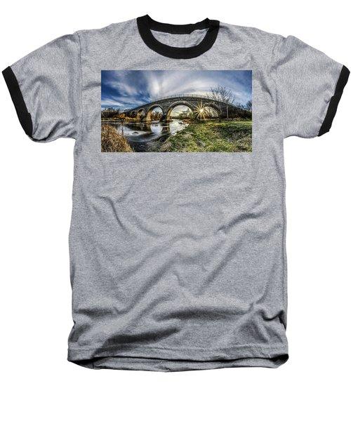 Tiffany Bridge Panorama Baseball T-Shirt by Randy Scherkenbach