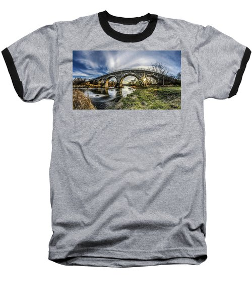 Tiffany Bridge Panorama Baseball T-Shirt