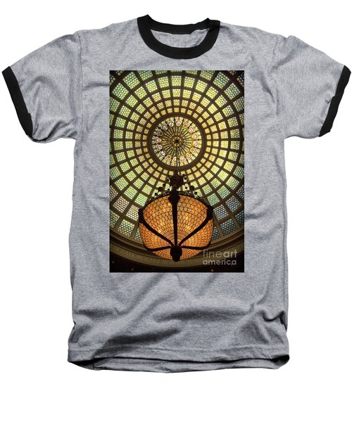 Tiffany Ceiling In The Chicago Cultural Center Baseball T-Shirt