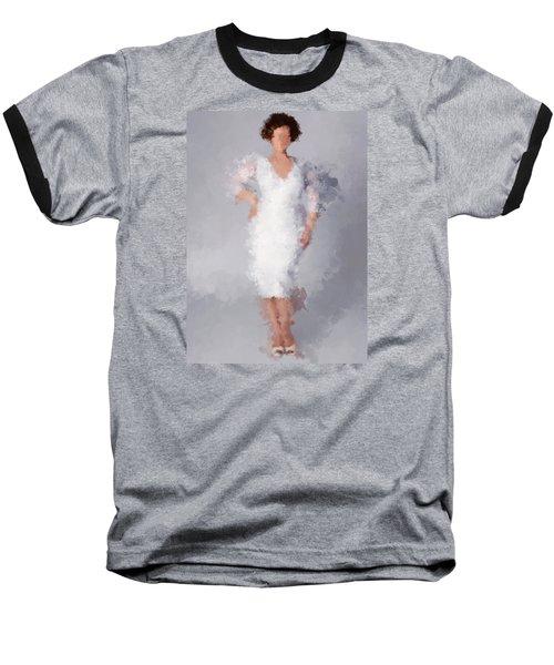 Baseball T-Shirt featuring the digital art Tiffany by Nancy Levan