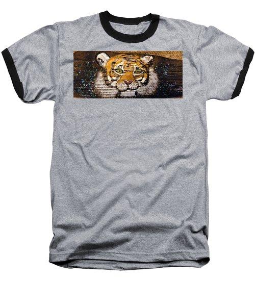 Tiger Baseball T-Shirt by Ann Michelle Swadener