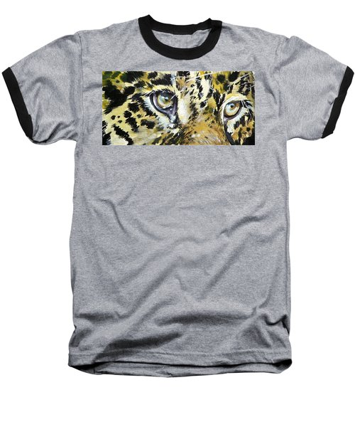 Baseball T-Shirt featuring the painting Tiger Eyes by Kovacs Anna Brigitta
