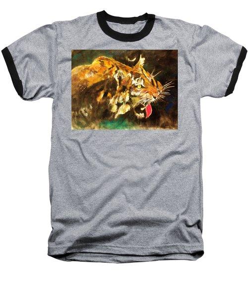 Tiger Baseball T-Shirt by Khalid Saeed