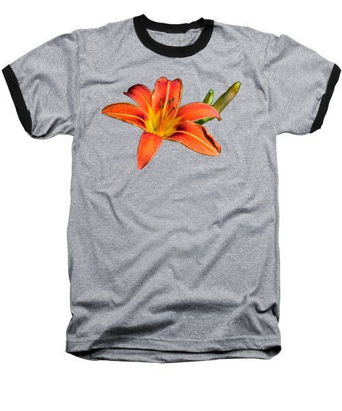 Tiger Lily Baseball T-Shirt by Christina Rollo