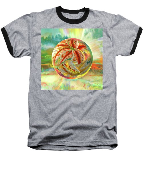 Tiger Lily Dream Baseball T-Shirt by Robin Moline