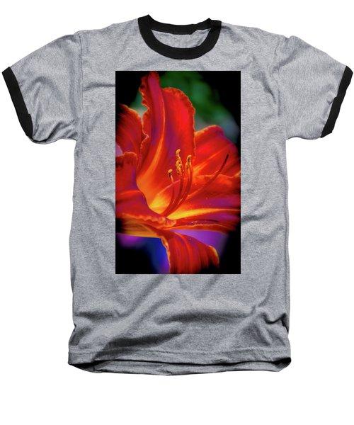 Tiger Lily Baseball T-Shirt by Mark Dunton