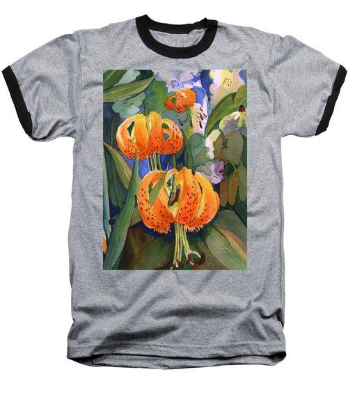 Tiger Lily Parachutes Baseball T-Shirt