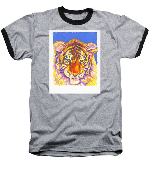 Baseball T-Shirt featuring the painting Tiger by Stephen Anderson