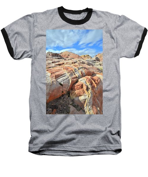 Tiger Stripes In Valley Of Fire Baseball T-Shirt by Ray Mathis