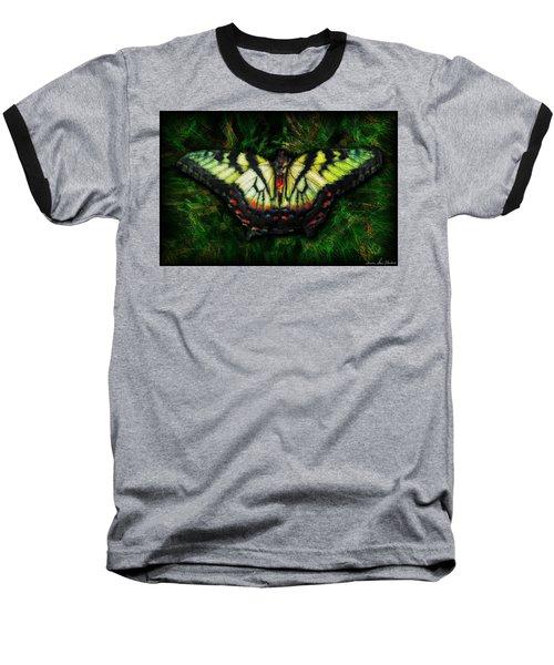 Tiger Swallowtail Baseball T-Shirt by Iowan Stone-Flowers