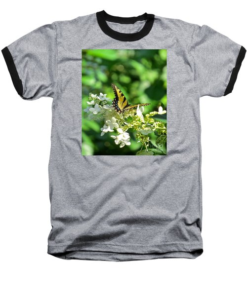 Baseball T-Shirt featuring the photograph Tiger Swallowtail  by Nancy Patterson