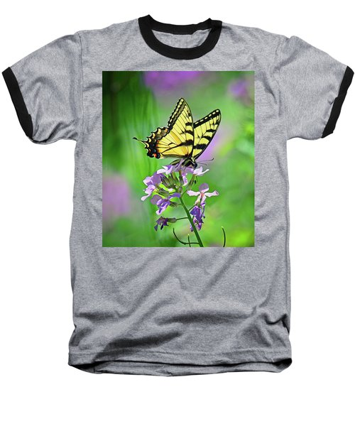 Baseball T-Shirt featuring the photograph Tiger Swallowtail by Rodney Campbell