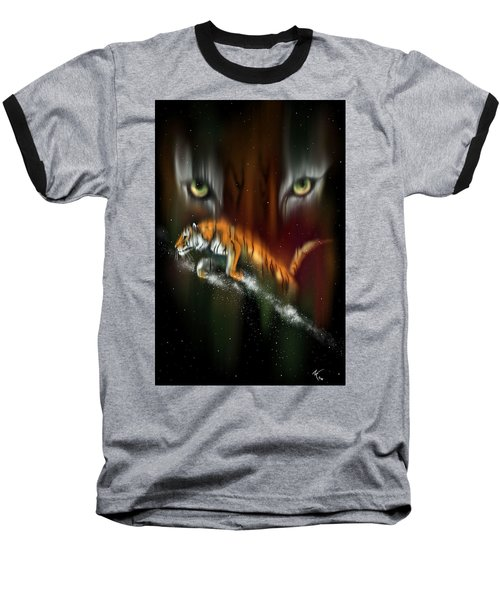 Tiger, Tiger Burning Bright Baseball T-Shirt