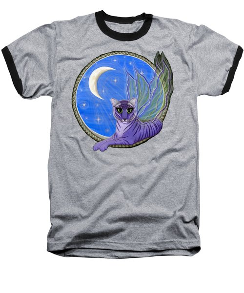 Tigerpixie Purple Tiger Fairy Baseball T-Shirt