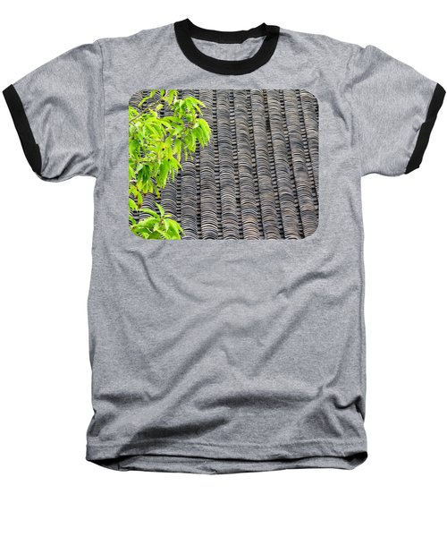 Tiled Roof Baseball T-Shirt by Ethna Gillespie