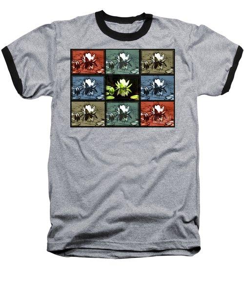 Tiled Water Lillies Baseball T-Shirt