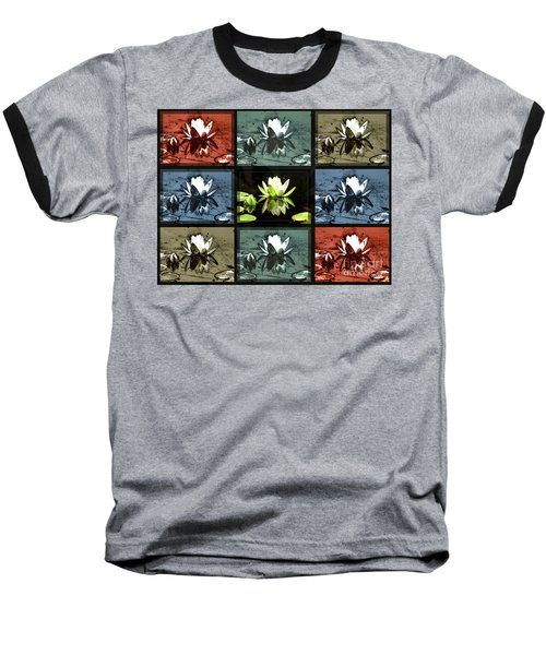 Tiled Water Lillies Baseball T-Shirt