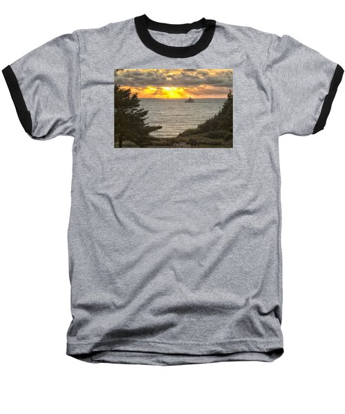 Tillamook Rock Lighthouse 0402 Baseball T-Shirt