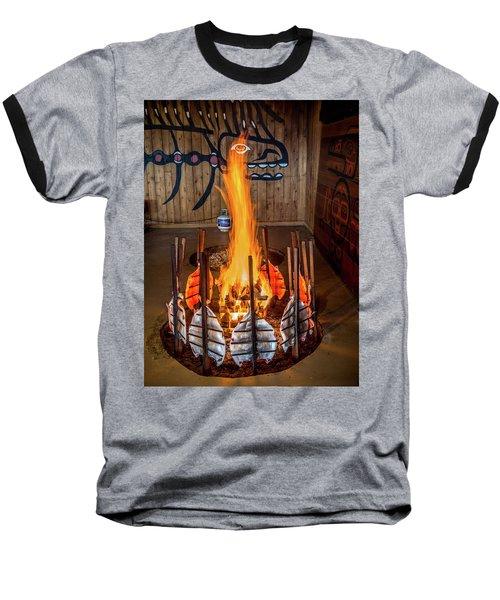 Tillicum Village Salmon Cook Baseball T-Shirt