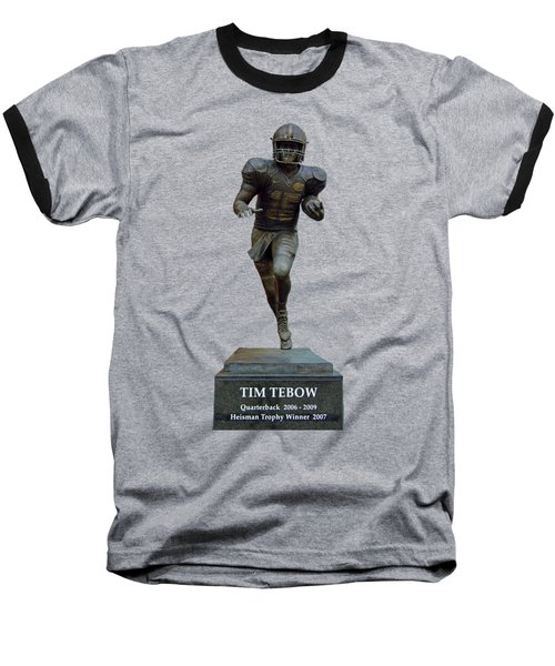 Tim Tebow Transparent For Customization Baseball T-Shirt by D Hackett