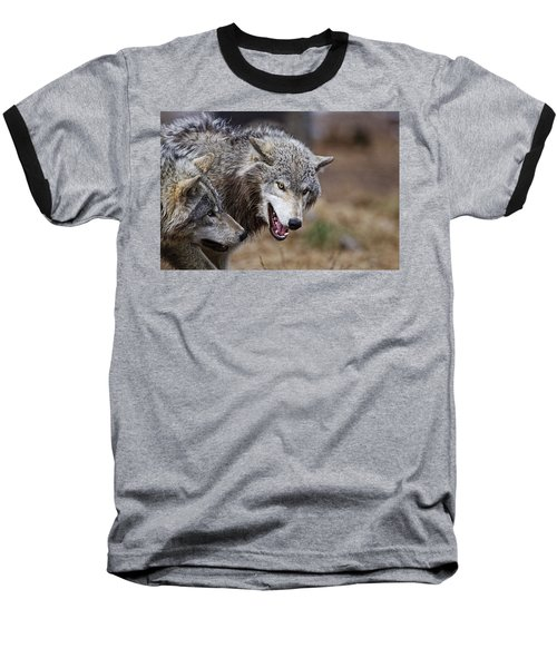 Baseball T-Shirt featuring the photograph Timber Wolves by Michael Cummings