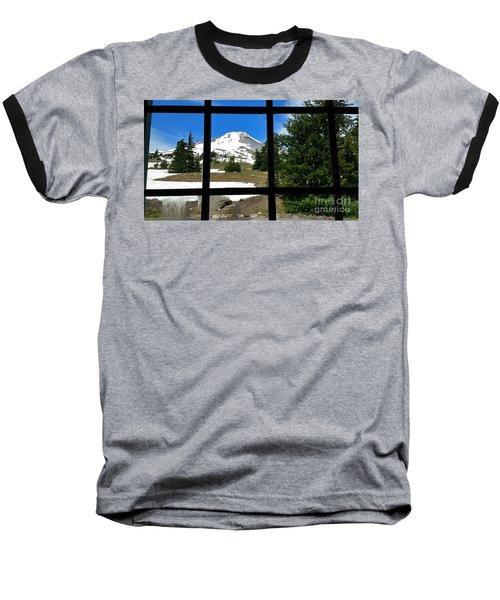 Timberline Lodge View Baseball T-Shirt