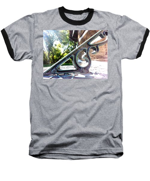 Baseball T-Shirt featuring the photograph Time At An Angle by Robert Knight