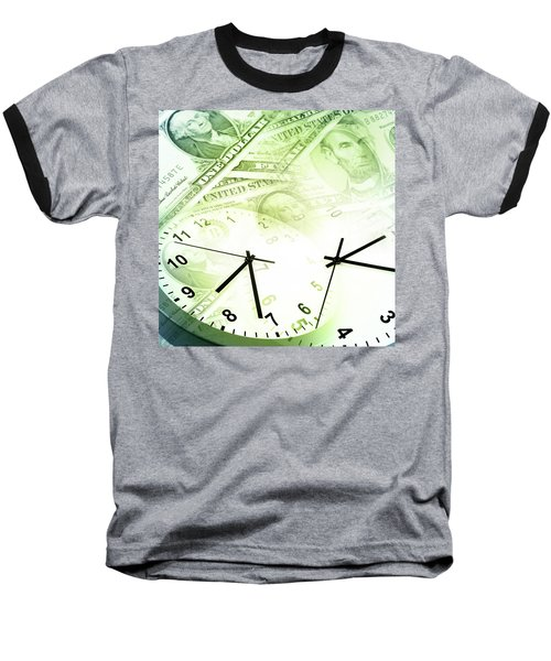 Time Is Money  Baseball T-Shirt by Les Cunliffe
