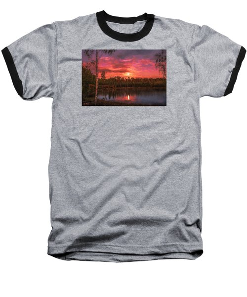 Baseball T-Shirt featuring the painting Time Of Grace by Rose-Maries Pictures