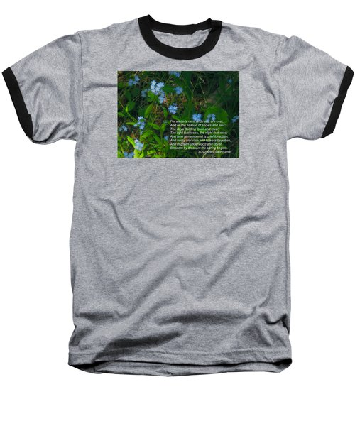 Time Remembered Is Grief Forgotten Baseball T-Shirt by Deborah Dendler