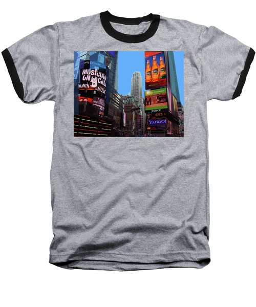 Baseball T-Shirt featuring the photograph Times Square 2 by Walter Fahmy