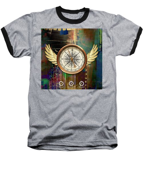 Baseball T-Shirt featuring the mixed media Time To Fly by Marvin Blaine