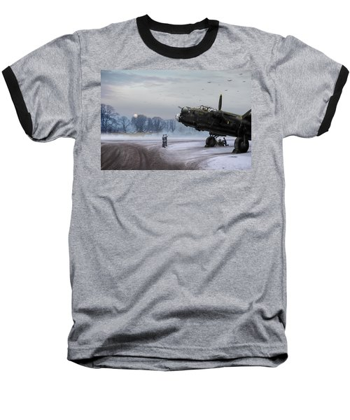 Baseball T-Shirt featuring the photograph Time To Go - Lancasters On Dispersal by Gary Eason